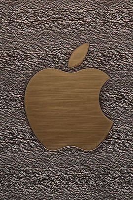 Wood & vinyl Apple Logo