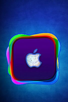 Blue Icon Apple