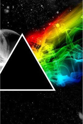 Pink Floyd Triangle Space Planet Colors