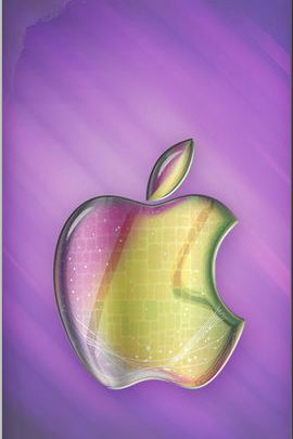 Artistic Glass Apple