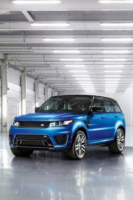 Blue Range Rover Sports Car