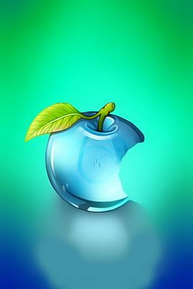 Blue Glass Apple