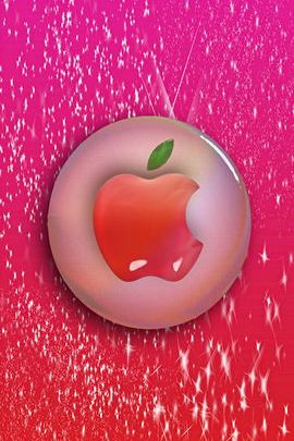 Pink Glass Apple