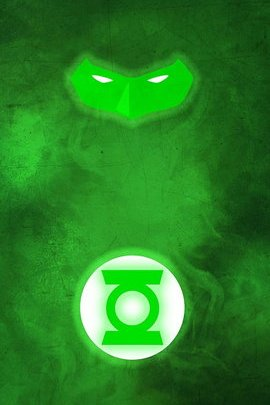 Green Lantern Minimal Grunge
