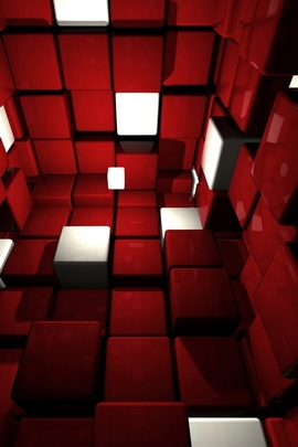 Red And White Cube Room