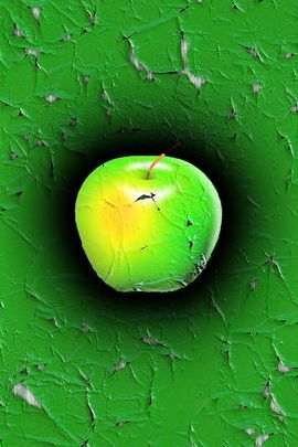 Green Cracked Apple