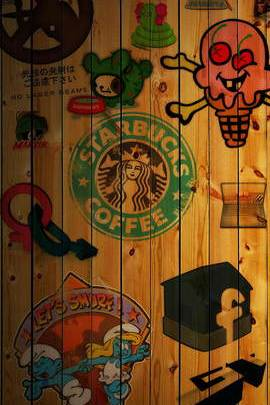 Starbucks Coffee Collage