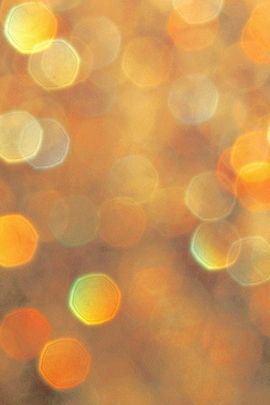 Orange Light Bokeh