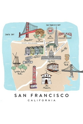 San Francisco Minimal Map