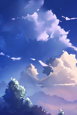 Anime Scene Clouds