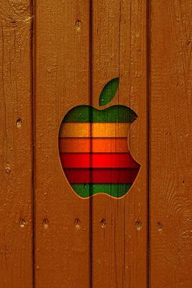 Old Apple Logo & Wood