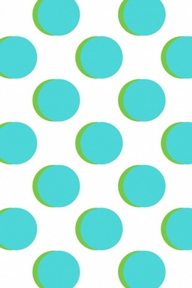 Blue Green Big Dots