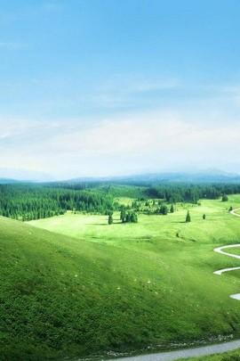 Nhìn ra núi xanh