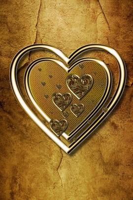 Gold Hearts 1