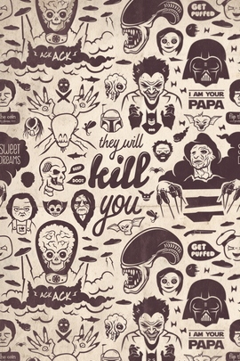 Movie villains Collection They Will Kill You
