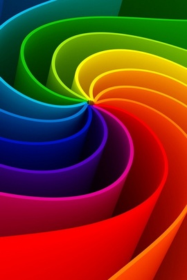 Colorful 3D Swirl