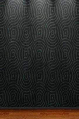 Black Abstract Wall