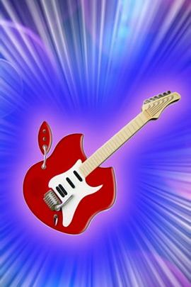 Guitar Red Apple
