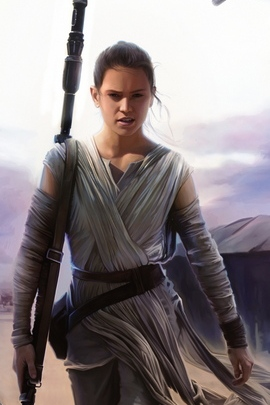 Daisy Ridley en Star Wars Force Awakens