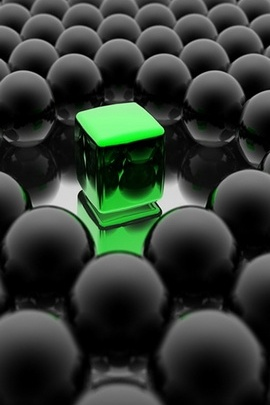Green Dark Circle