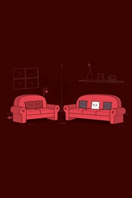 Double Red Sofa