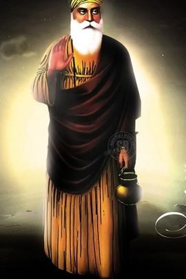 Guru Nanak In Black