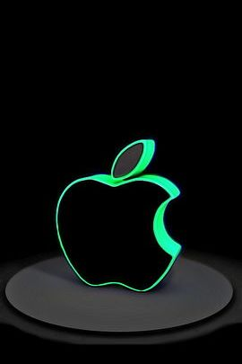 Green Cutout Apple