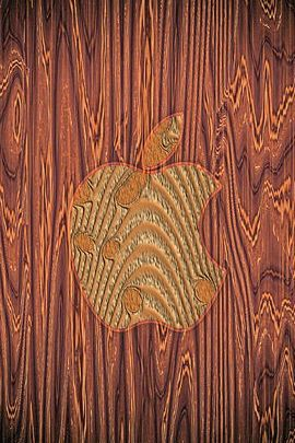 Apple Logo Dark Wood