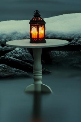 Zimowa latarnia