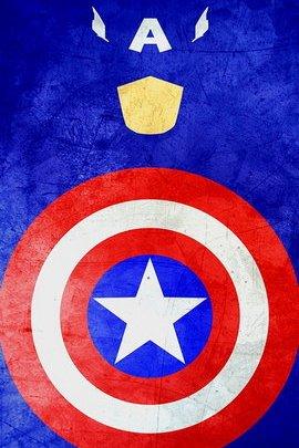 Captain America Minimal Grunge