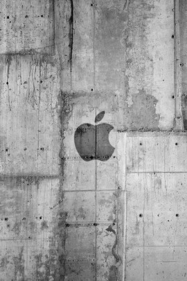 Concrete Apple Logo
