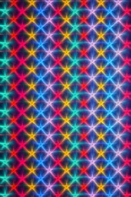 Colorful Fractal Stars