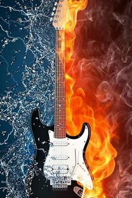 Nước và Fire Guitar IPhone 6 Hình nền