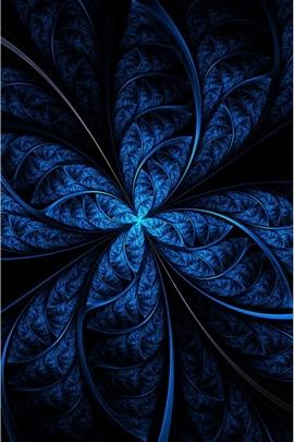 Strange Blau Abstrakt Fraktale