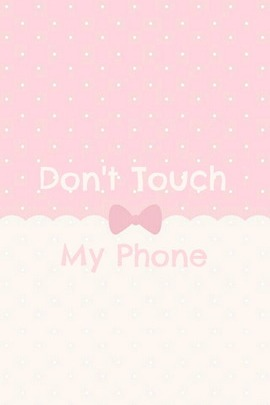 Bow Tie Don't Touch My Phone