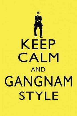Mantenga la calma y el estilo de Gangnam