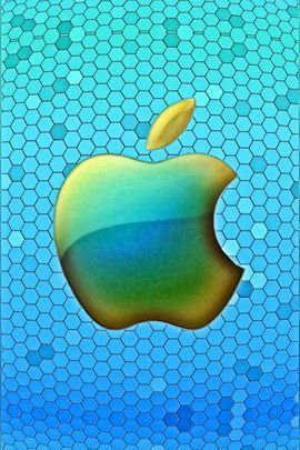 Apple Honeycomb Blue