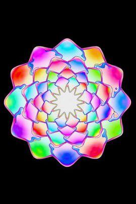 Fractal Pastel Flower