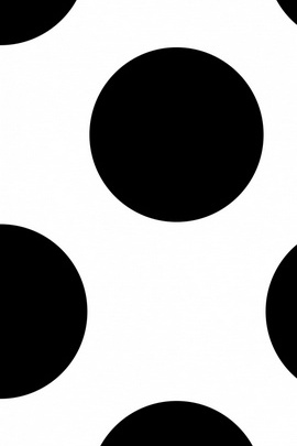 Black And White very Big Dots