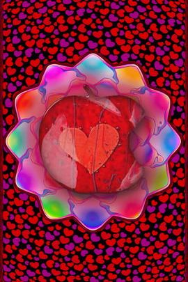 Fleur de coeur fractal
