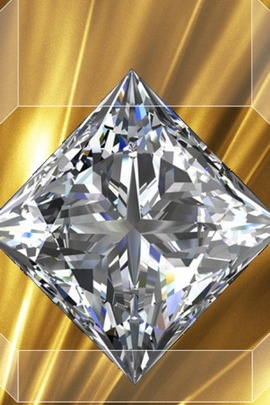 Diamond With Gold