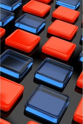 Colored Plastic Bricks