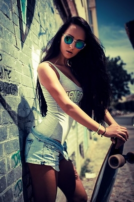 सड़क लड़की