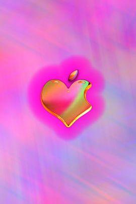 Pink Rainbow Heart
