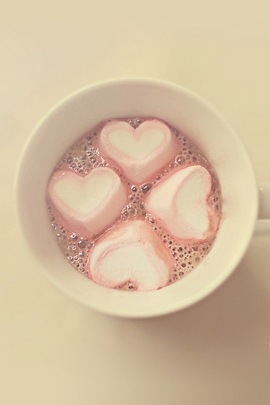 Pink Hearts In The Cup vintage