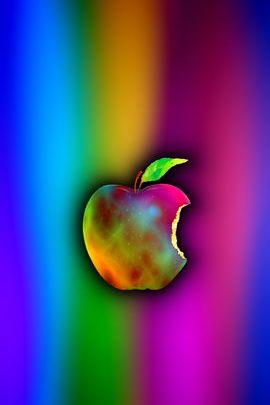 Rainbow Galaxy Apple