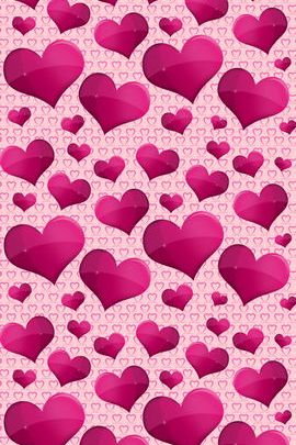 Bunch Of Pink Hearts