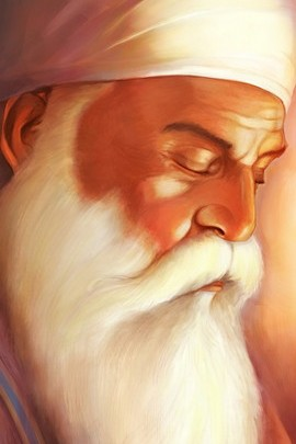 Long Beard Guru Nanak