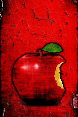 Grungy Red Apple