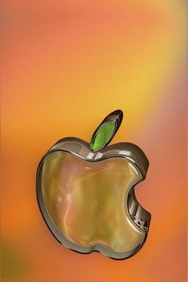 Crystal Glass Apple 02